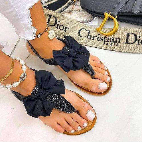 Mes sandales à noeuds