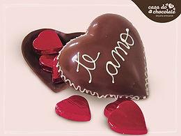 Coração de Chocolate Ao Leite Recheado