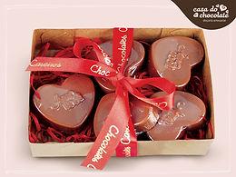 Coração de Chocolate Ao Leite recheado com Nutella