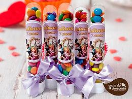 Tubetes com Confetes de Chocolate