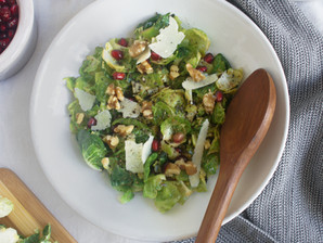 Warm Shaved Brussel Sprout Salad