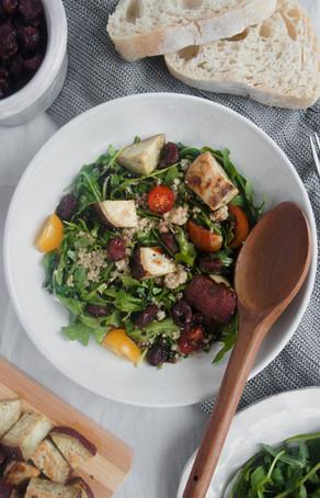Warm Winter Arugula Salad