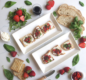 Balsamic Strawberry Ricotta Toast