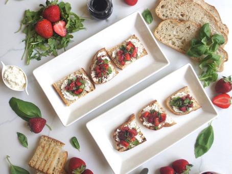 Balsamic Strawberry Ricotta Toast