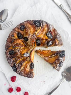 Berry Nectarine Cake