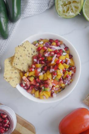 Mango Pomegranate Salsa