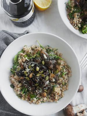 Warm Mushroom and Ancient Grain Salad