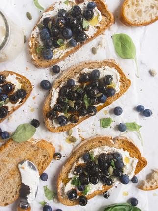 Blueberry Balsamic Toast