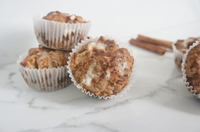 Apple Spice Muffins with Chai Glaze