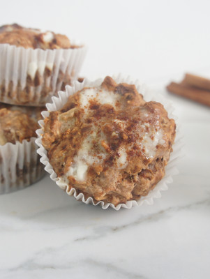 Apple Spice Muffins with Chai Glaze