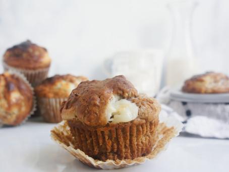 Carrot Cake Cream Cheese Muffins