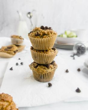 Chocolate Chip Maple Zucchini Muffins