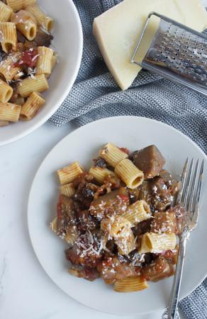 Mushroom and Eggplant Bolognese