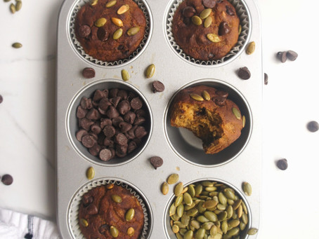 Small Batch Healthy Pumpkin Spice Muffins