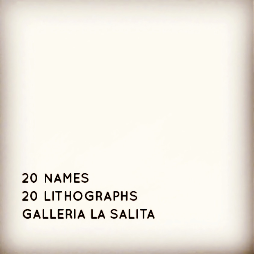 20 NAMES - 20 LITHOGRAPHS