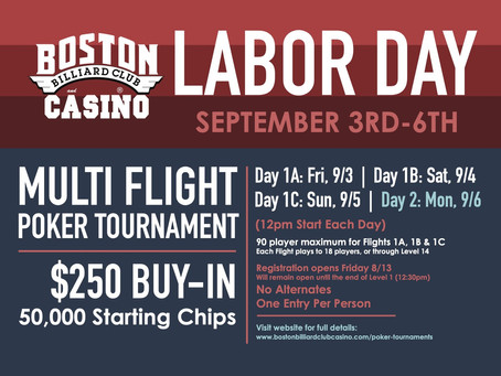 Labor Day Tourney - DAY 1C Results!