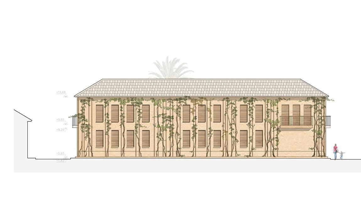 facade of residence oin tel aviv