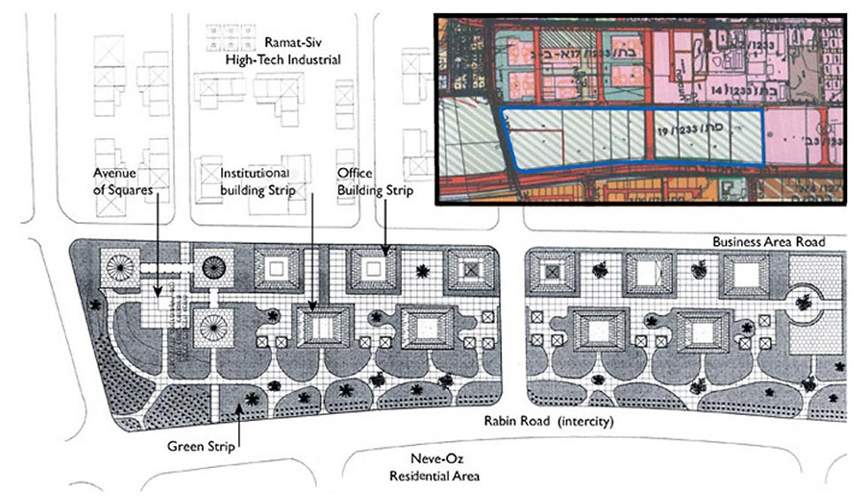 Golany Architects_Mixed-use zone, Neve O