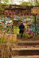 There was even more graffiti here.