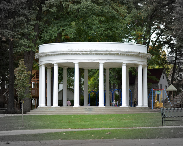 In this park and on this carousel Rod Serling played as a child. He wrote the Twilight Zone and Night Gallery, and Planet of the Apes, tackling social issues that could not appear on television any other way. Indy-Anna believed there was a little bit of truth in ghosts and gremlins Serling saw himself on the strange streets of Binghamton.