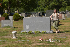 "For more than 5 decades Jack's grave was marked only by a small stone with ""John"" as his name, and his childhood nickname, ""Ti Jean"" above it.  In 2014 he received a headstone befitting his stature, with his signature and quote, ""The Road is Life."""