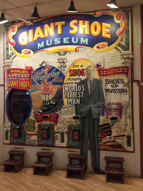 Inside she found the shoes of the World's Tallest Man.
