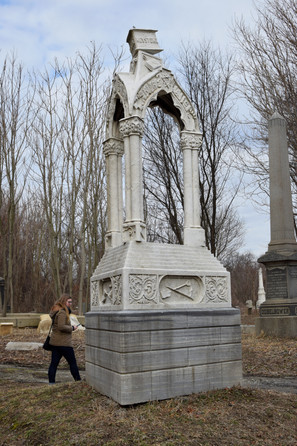 On their website, the Friends keep a collection of Before and After photos that show the cemetery completely engulfed in forest, with only the tallest obelisks poking above the trees and brush.