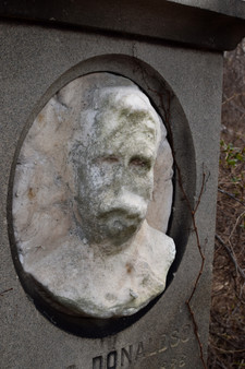 Once a prominant Civil War cemetery, many tombstones are now broken and crumbling.