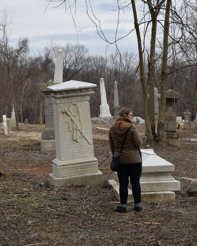 Inside the privately (un)owned Mount Moriah are two military burial grounds that are operated and maintained by the Department of Veterans Affairs.