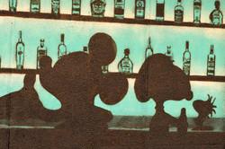 bar scene snoopy and mickey