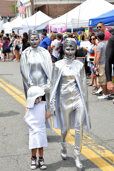 The additional heat did not deter costumed participants.