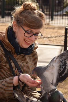 Indy-Anna Bones is an archaeologist, street-art expert, part-time cryptozoologist, and personal friend to several pigeons.