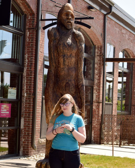 Indy-Anna was on the hunt for a mysterious creature, and what better place to start than the International Cryptozoology Museum in Portland Maine.