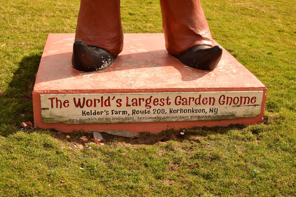 While his base proclaimed him the World's Largest, this gnome was only the second largest concrete gnome, and the THIRD largest gnome in the world.