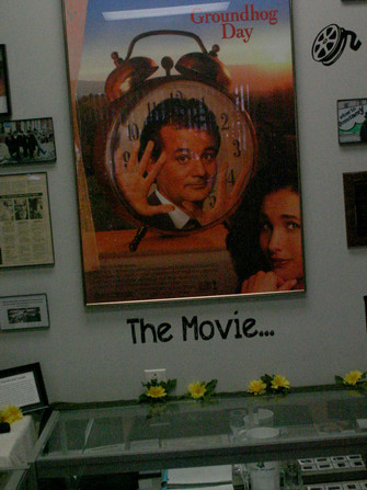 The town was the setting for the 1993 film, Groundhog Day, but the movie was filmed elsewhere.