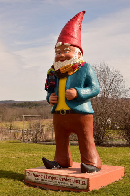 The gnome bid farewell, reassured and with spirits lifted and a smile on his face once more.
