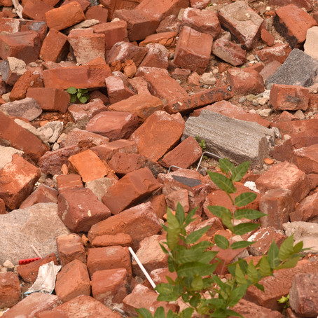 Brick Pile Abstract Texture