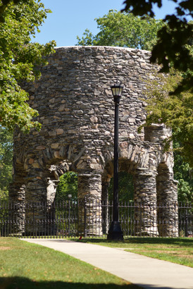 Indy-Anna visited the mysterious Newport Tower a New England enigma.