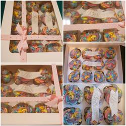 Rainbow cupcaks