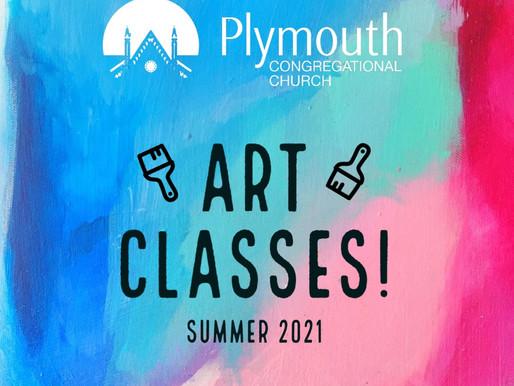 Summer Art Classes Are Back!