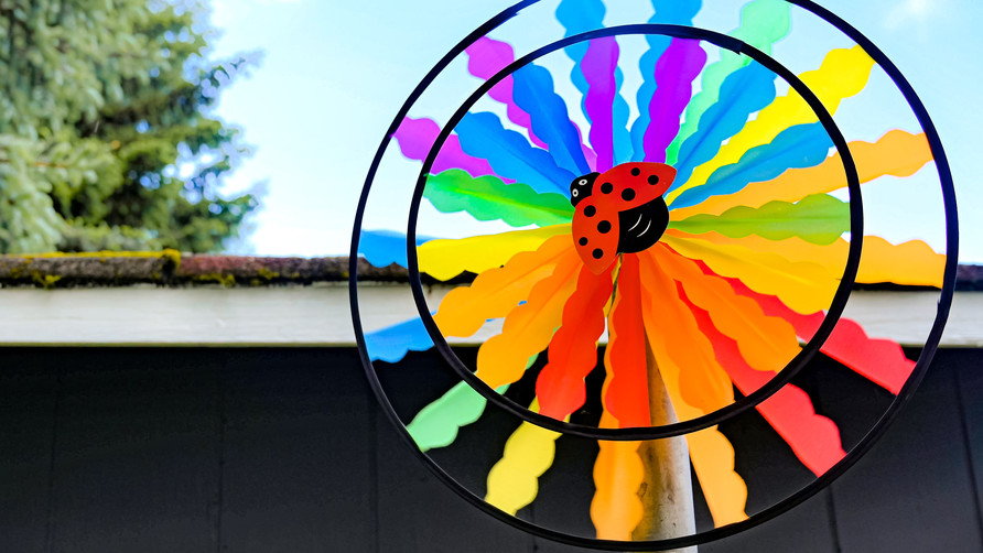 Fun wheel In Our Infant Toddler Outdoor Play Area