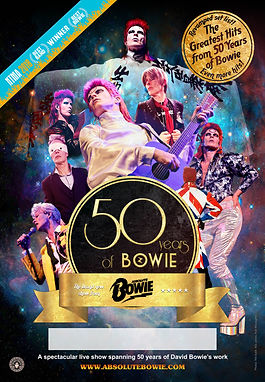 absolute bowie 50 years poster nmta over