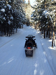 Snowmobile miles of trails right from th