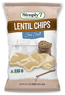 Simply 7  Lentil Chips Sea Salt