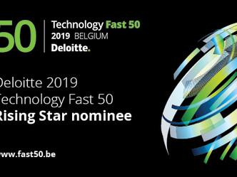 We zijn erg trots om onze nominatie voor de Deloitte Rising Star Award 2019 aan te kondigen!