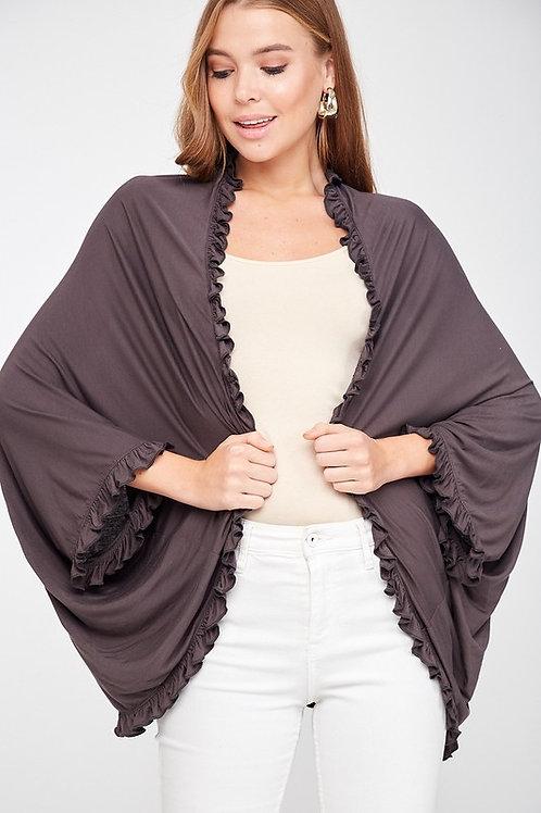 Ruffled Kimono Cardigan