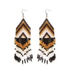 Exito Black Beaded Earrings