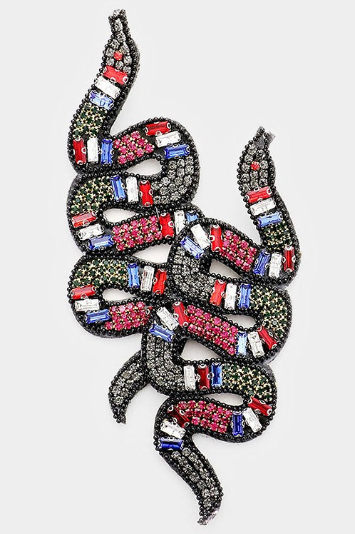 Jeweled Snake Earrings