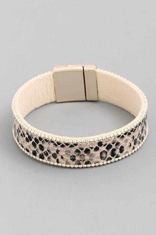 Snake Print Magnetic Bracelet
