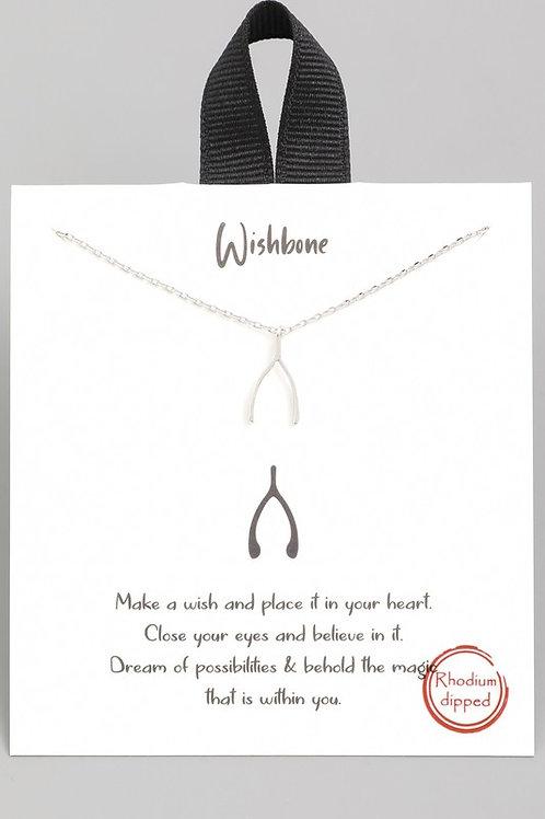 Dainty Wishbone Necklace